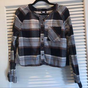 Urban Outfitters Cropped Plaid Button Down